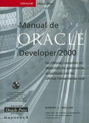 Cover of: Manual De Oracle Developer/2000