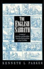 Cover of: The English Sabbath