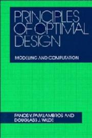 Cover of: Principles of optimal design