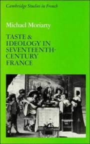 Cover of: Taste and ideology in seventeenth-century France