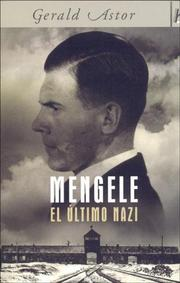 Cover of: Mengele