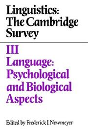 Cover of: Linguistics