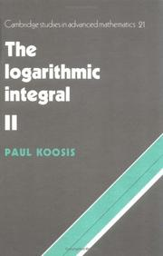 The logarithmic integral by Paul Koosis