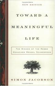 Cover of: Toward a Meaningful Life