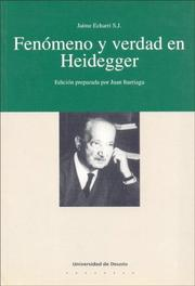 Cover of: Fenomeno y Verdad En Heidegger
