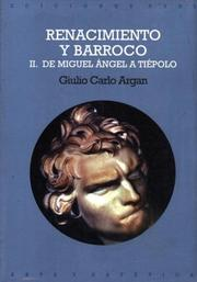 Cover of: Renacimiento Y Barroco II/ Rebirth and Barroco II (Arte Y Estetica)