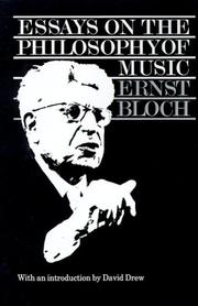 Cover of: Essays on the philosophy of music