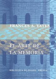 Cover of: El Arte de La Memoria