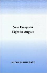 Cover of: New essays on Light in August |