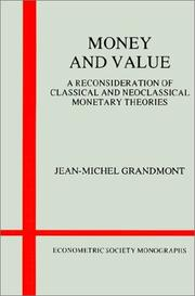 Cover of: Money and Value | Jean-Michel Grandmont