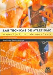 Cover of: Las Tecnicas de Atletismo by Jose Campos Granell