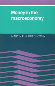 Cover of: Money in the macroeconomy