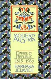 Cover of: Modern Austria | Barbara Jelavich