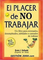 Cover of: El placer de no tranajar