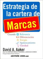 Cover of: Estrategia de La Cartera de Marcas by David Aaker