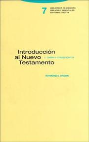 Cover of: Introduccion Al Nuevo Testamento/ an Introduction to the New Testament