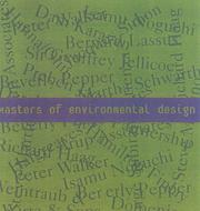 Cover of: Masters of Environmental Design | Arco Editorial
