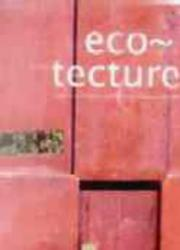 Cover of: Eco-tecture