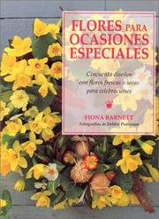 Cover of: Flores para ocasiones especiales by Fiona Barnett
