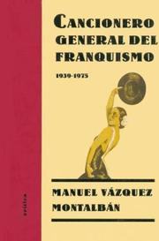 Cover of: Cancionero General del Franquismo, 1939-1975