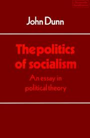 Cover of: The politics of socialism