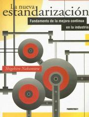 Cover of: La Nueva Estandarizacion | Press Productivity