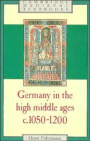 Cover of: Germany in the High Middle Ages, c. 1050-1200