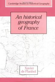 Cover of: An historical geography of France