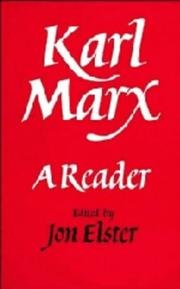 Cover of: Karl Marx: A Reader
