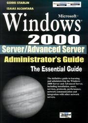 Windows 2000 Server/Advanced Server by Gorki Starlin, Izaias Alcantara