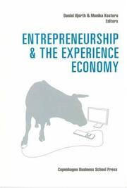 Cover of: Entrepreneurship and the Experience Economy |