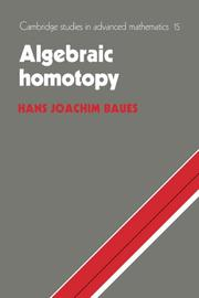 Cover of: Algebraic homotopy