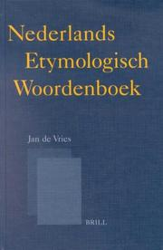 Cover of: Nederlands Etymologisch Woordenboek