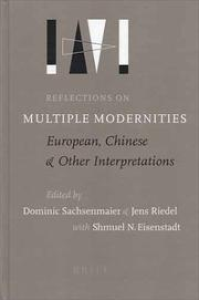 Cover of: Reflections on Multiple Modernities | Germany) Multiple Modernities Conference (2001 Berlin
