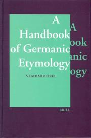 Cover of: A Handbook of Germanic Etymology