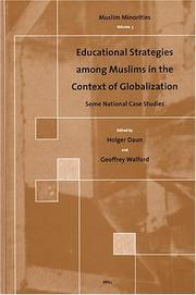 Cover of: Educational Strategies Among Muslims in the Context of Globalization |