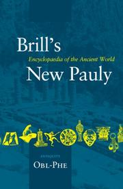 Cover of: Brill's New Pauly: Antiquity |
