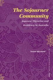 Cover of: The Sojourner Community (Social Sciences in Asia) | Tetsuo Mizukami