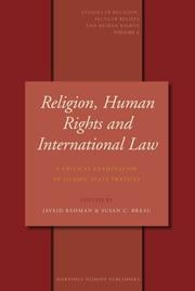 Cover of: Religion, Human Rights and International Law (Studies in Religion, Secular Beliefs and Human Rights) |