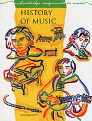 Cover of: History of Music