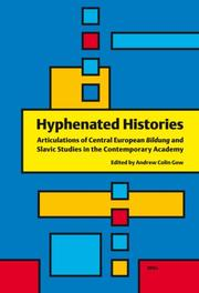 Cover of: Hyphenated Histories | Andrew Colin Gow