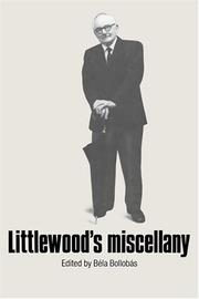 Cover of: Littlewood's Miscellany