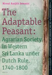 Cover of: The Adaptable Peasant | Nirmal Ranjith Dewasiri
