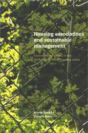 Cover of: Housing Associations & Sustainable Management | Minna Sunikka