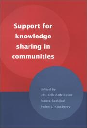 Cover of: Support for Knowledge Sharing in Communities |