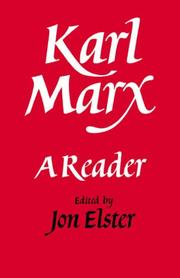 Cover of: Karl Marx