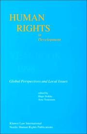 Cover of: Human Rights in Development:Vol. 5:Yearbook 1998, Global Perspectives and Local Issues (Human Rights in Developing Countries Yearbook, Vol 5)