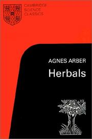 Cover of: Herbals | Agnes (Robertson) Arber