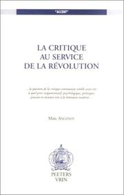 Cover of: Critique Au Service De LA Revolution