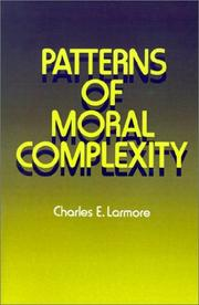Cover of: Patterns of moral complexity